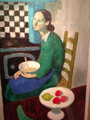 Alberto Morrocco: Vera in the kitchen