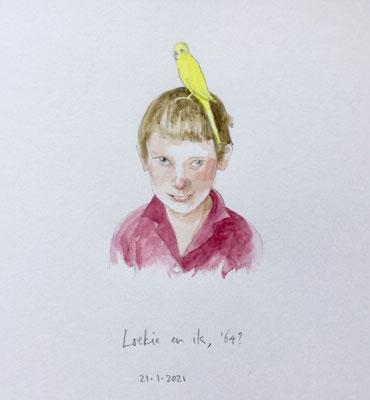 Annette Fienieg: Loekie en ik, '64?; 21-1-2021