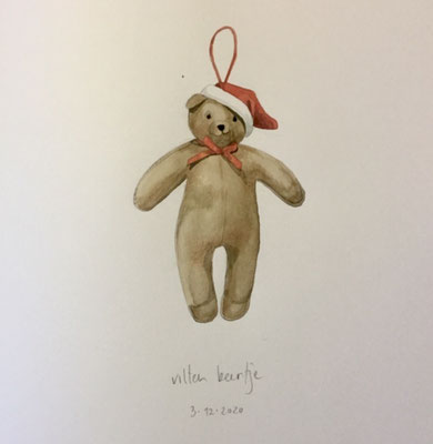 Annette Fienieg: Felt bear, 3-12-2020