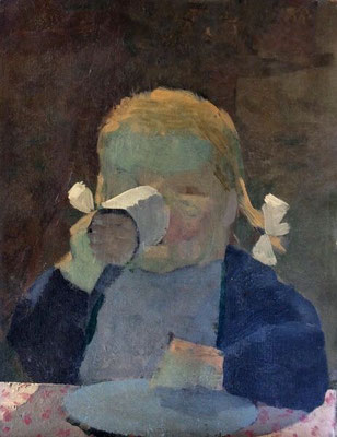 Kenneth Rowntree: Portrait of Sacha, aged 4