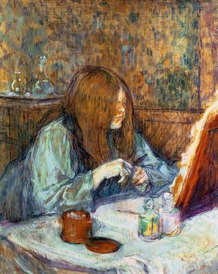 Henri de Toulouse-Lautrec: Madame Poupoule aan haar toilet