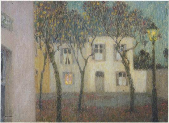 Henri Le Sidaner: Village square