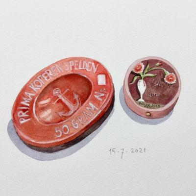 Annette Fienieg: Two tins, 15-7-2021