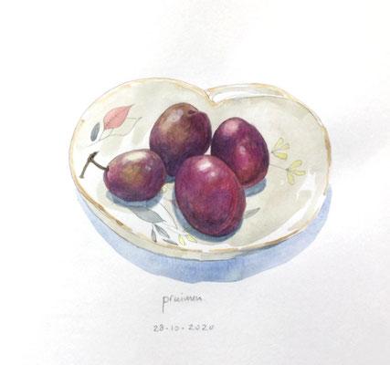 Annette Fienieg: Plums, 28-10-2020