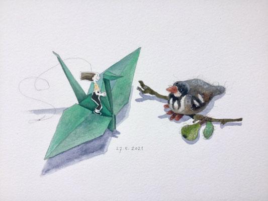 Annette Fienieg: Two birds, 27-5-2021