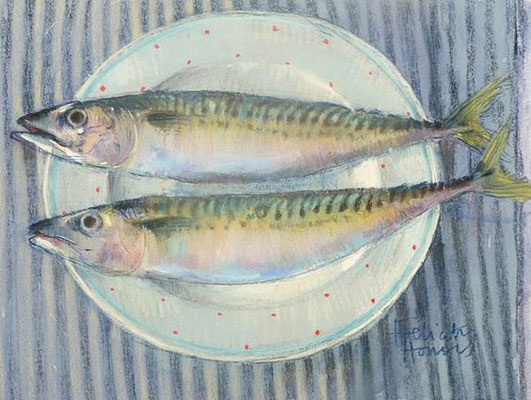 Felicity House: Mackerel on spotted plate