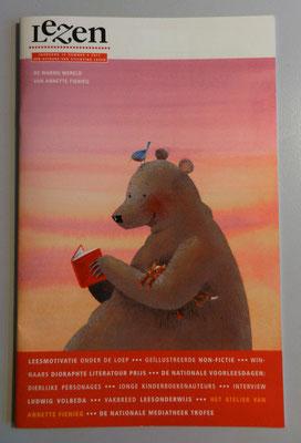 omslag illustratie 'Lezen' jaargang 12-nummer 4 2017, door Annette Fienieg