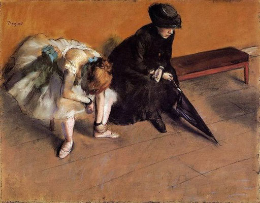 Edgar Degas: waiting