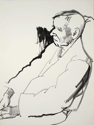 Don Bachardy: portrait of Christopher Isherwood