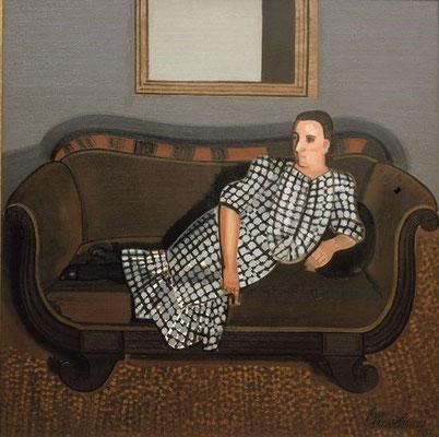 Jean Brusselmans: Dame op sofa