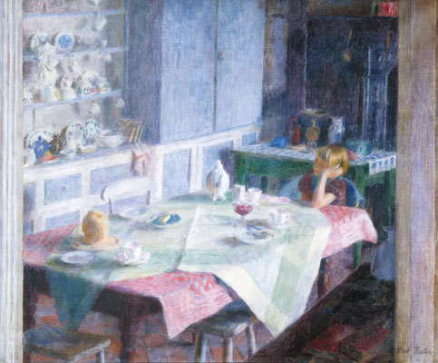 Dod Procter: Kitchen at Myrtle cottage