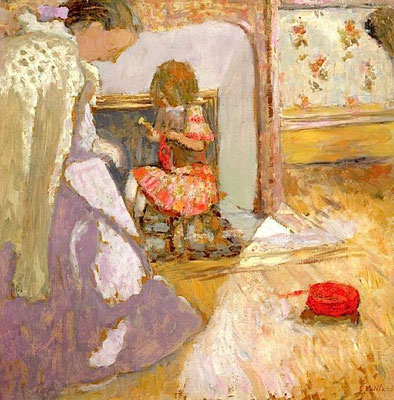 Edouard Vuillard: The red ball of wool