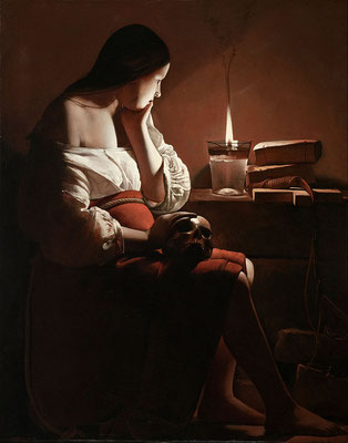 Georges de la Tour: Magdalene and the smoking flame