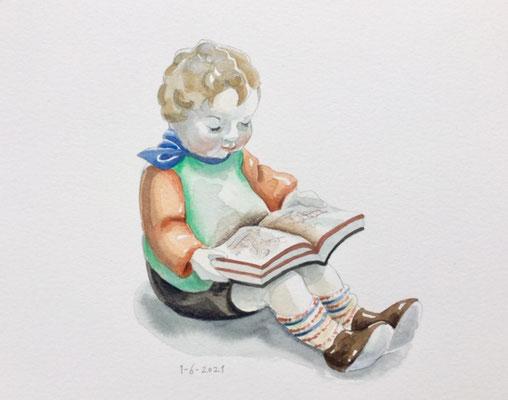 Annette Fienieg: Reading figurine, 1-6-2021