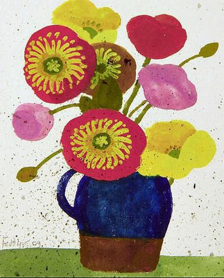 Mary Fedden: Flowers in a jug