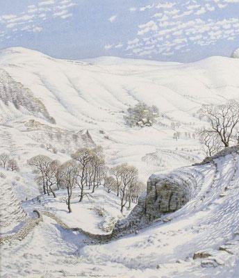 Stanley Roy Badmin: Snowy morning, Mam Tor, Derbyshire