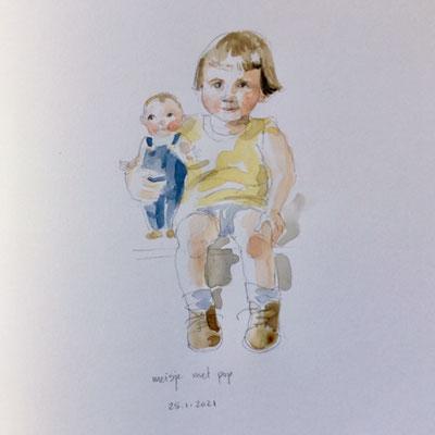 Annette Fienieg: Meisje met pop