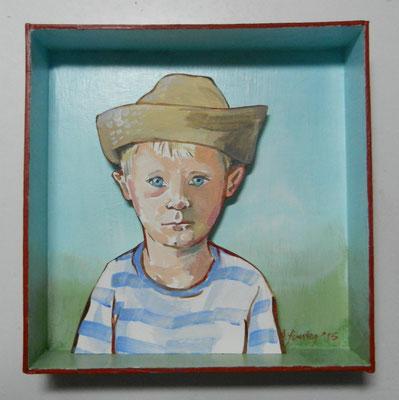 Jongetje, acryl op karton, 2015