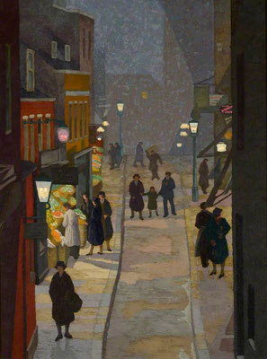 Charles Ginner: Flask Walk, Hampstead