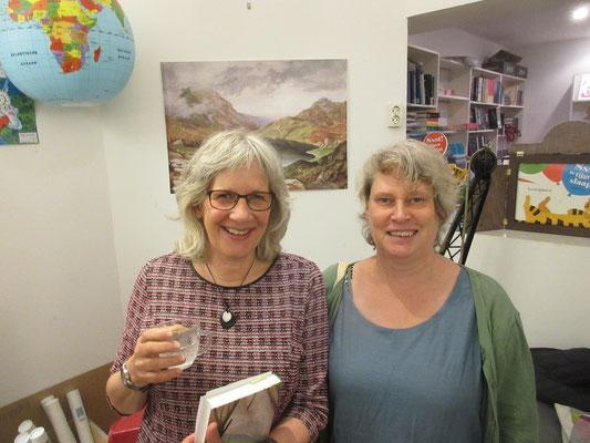writer Marjolijn Hof and me, illustrator Annette Fienieg