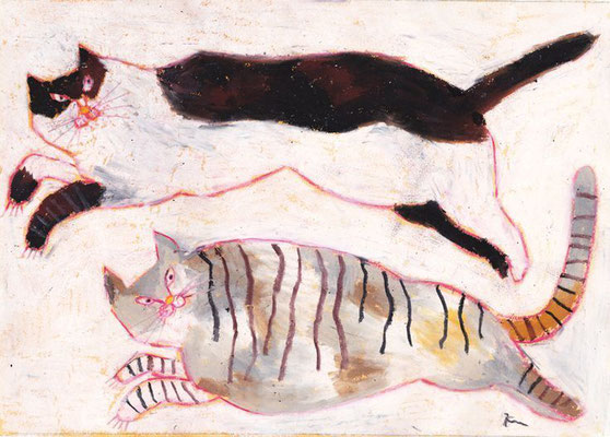 Miroco Machiko: Two cats