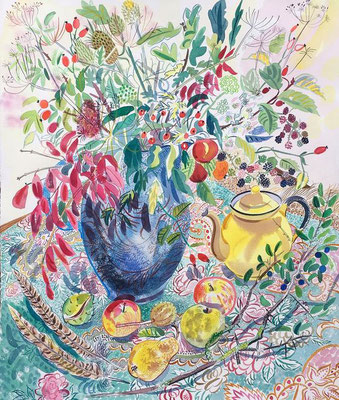 Emily Sutton: Still life with yellow teapot