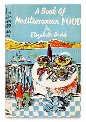 John Minton: A book of Mediterranean food, boekomslag