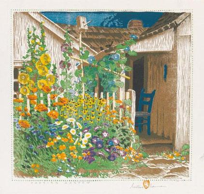 Gustave Baumann: Hoosier garden, houtsnede