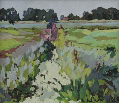 Kees Bol: Summer landscape near Kerkwijk