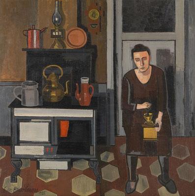 Jean Brusselmans: Vrouw in de keuken