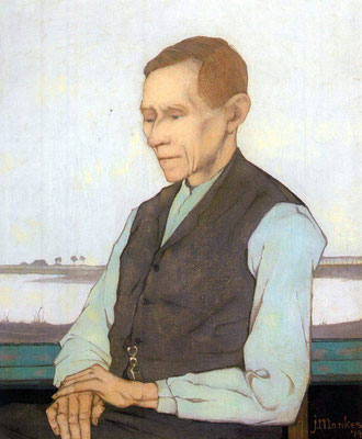 Jan Mankes: Portret van Beint Mankes