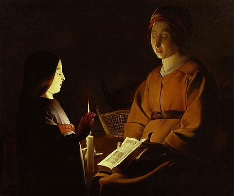 Georges de la Tour: Het onderwijzen van Maria