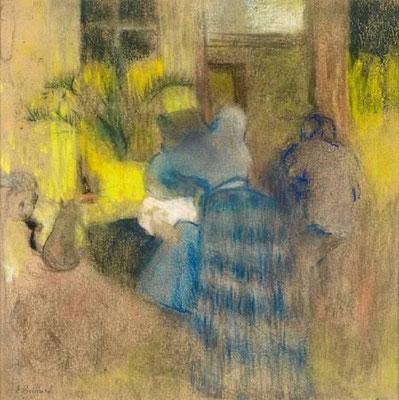 Edouard Vuillard: Geel en blauw interieur