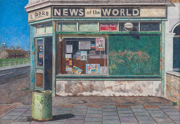 Doreen Fletcher: Corner shop, Canning Town
