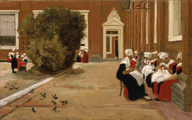 Max Liebermann: Pauze in het burgerweeshuis, Amsterdam