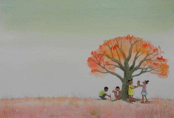 Bij de Biba-boom; Nigeria, Afrika