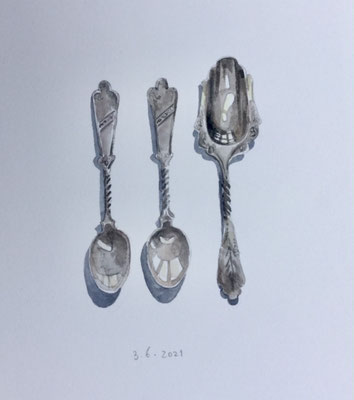Annette Fienieg: My grandmother's spoons, 3-6-2021