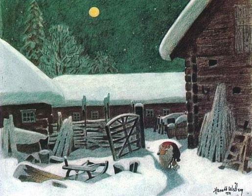 Harald Wiberg: Tomte in the yard