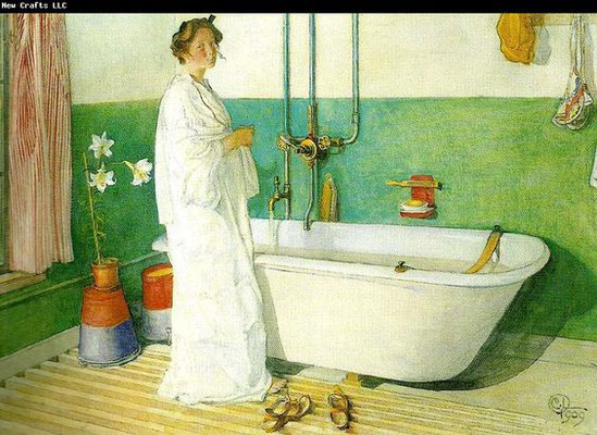 Carl Larsson: The bathroom