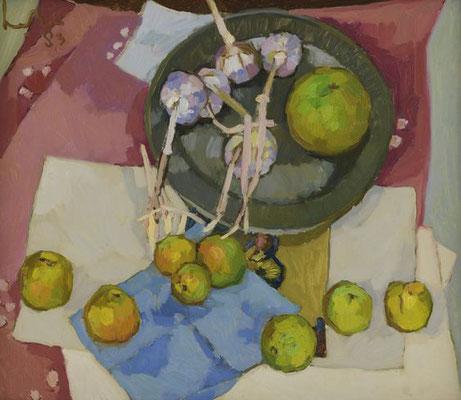 Kees Bol: Stilleven met appels en knoflook