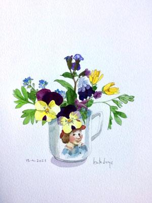 Annette Fienieg: Spring posy, 13-4-2021