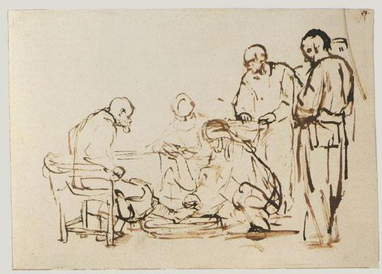 Rembrandt van Rijn: de voetwassing
