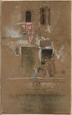 James Abbott McNeill Whistler: Note in pink and brown