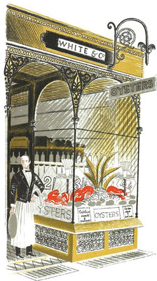 Eric Ravilious: The oysterbar, Highstreet