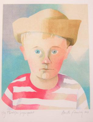 Annette Fienieg: Florentijns jongensportret, sjabloondruk