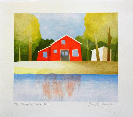 Huis aan het water, sjabloondruk 2016