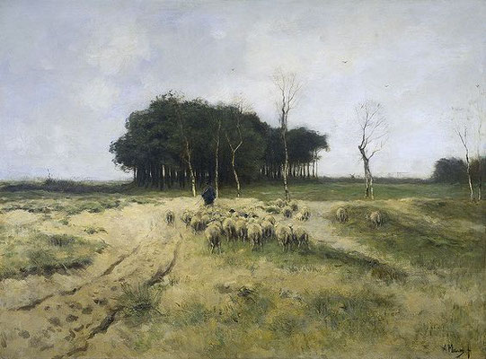 Anton Mauve: The heath at Laren