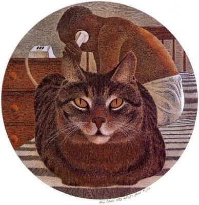Alex Colville: Cat and artist