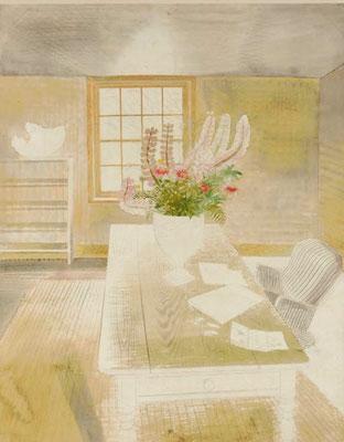 Eric Ravilious: bloemen op de tafel