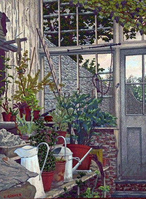 Charles Ginner: the greenhouse